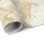"Marble Champaigne Gold  Sepia Cream Metal Strokes Wrapping Paper<br><div class=""desc"">Minimalism and elegance according to actual interior decor trends.  For Many Luxury Glam Occasions</div>"