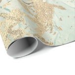 """Marble Champaigne Gold Sepia Mint Metal Strokes Wrapping Paper<br><div class=""""desc"""">Minimalism and elegance according to actual interior decor trends.  For Many Luxury Glam Occasions</div>"""