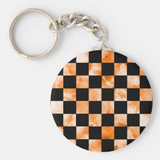 Marble Checkerboard Basic Round Button Keychain