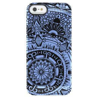 Marble circle clear phone case mandala pattern