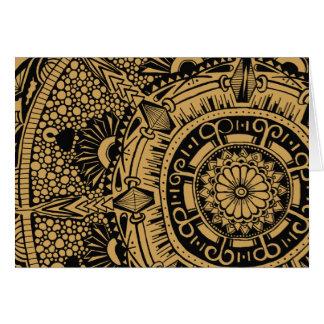 Marble circle greeting card orignal mandala design