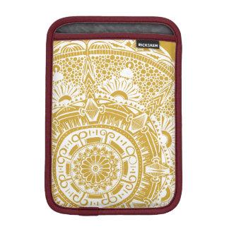 Marble circle ipad sleeve bohemian mandala design