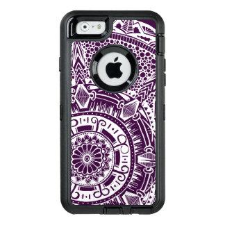 Marble circle OtterBox phone case mandala pattern