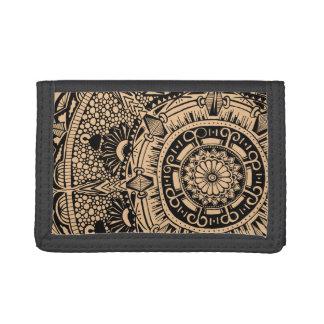 Marble Circle wallet. mandala pattern Tri-fold Wallets
