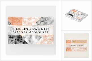 Marble Collage Pink White Rose Business Branding