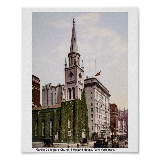 Marble Collegiate Church, Holland House NYC Poster
