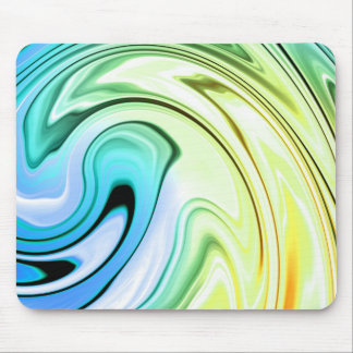 Marble Color Waves Mouse Pad