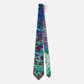 Marble Coral Ocean Tie