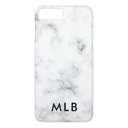 Marble Design iPhone Case Black and White Phone Case