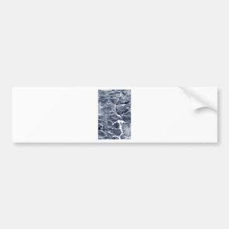Marble effect bumper sticker