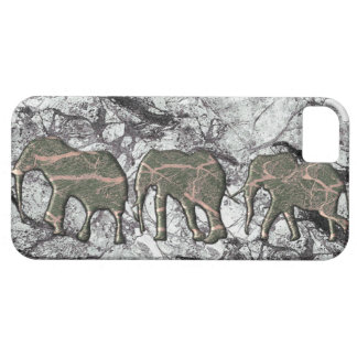 Marble effect  Elephant herd IPhone case