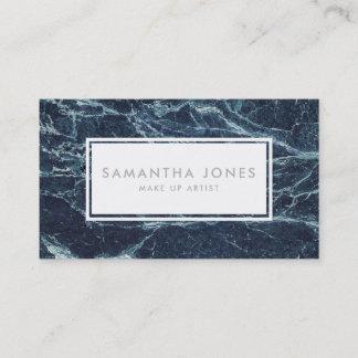 Marble Elegant Stone Simple Modern Make Up Artist Business Card