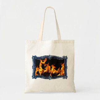 Marble Fire B Tote Bag