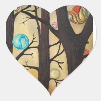 Marble Forest Heart Sticker
