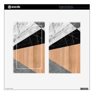 Marble, Garnite, Teak Wood Abstract Kindle Fire Decals