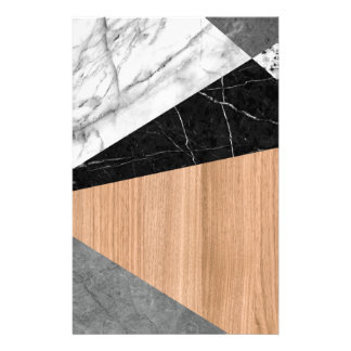 Marble, Garnite, Teak Wood Abstract Stationery