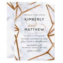 Marble Geometric Wedding Invitation