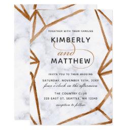 Marble Geometric Wedding Invitations