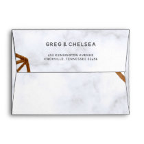 Marble Geometric Wedding Invitation Envelope
