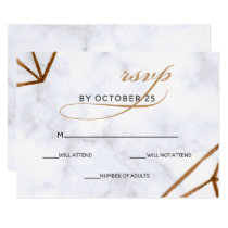 Marble Geometric Wedding Invitations rsvp