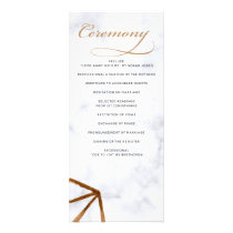 Marble Geometric Wedding programs