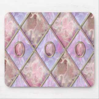 Marble & Glass Argyle Mouse Pad