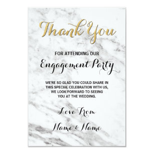 Engagement Party Thank You Invitations & Announcements | Zazzle
