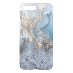 Marble Golden Blue Abstract Iphone7 Plus Case at Zazzle
