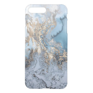 Marble Golden Blue Abstract iPhone7 plus Case