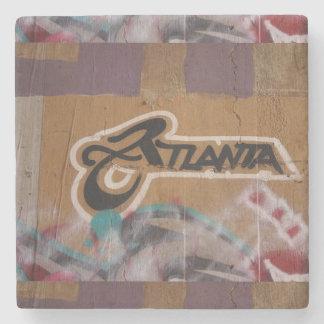 Marble Grafitti Atlanta Stone Coaster
