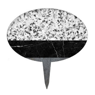 Marble, Granite, and Concrete Abstract Cake Topper