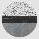 Marble, Granite, and Concrete Abstract Classic Round Sticker