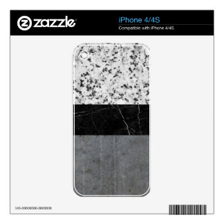 Marble, Granite, and Concrete Abstract Decal For iPhone 4
