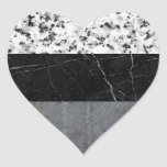 Marble, Granite, and Concrete Abstract Heart Sticker