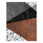Marble, Granite, Rusted Iron Abstract Letterhead
