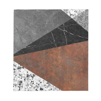 Marble, Granite, Rusted Iron Abstract Notepad