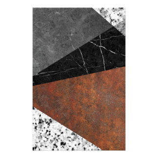 Marble, Granite, Rusted Iron Abstract Stationery