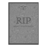 Marble Grave Headstone Halloween Party Invitation