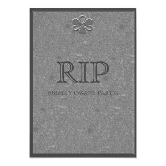 Marble Grave Headstone Halloween Party Invitation