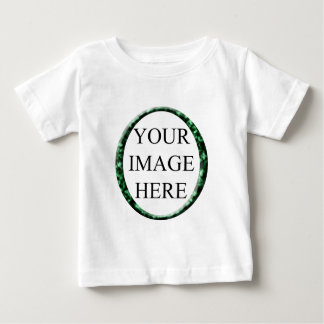 Marble Green Circle Frame Template. Baby T-Shirt