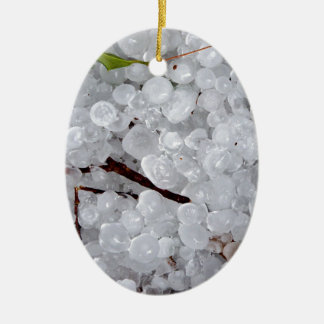 Marble Hail and Debris Christmas Tree Ornaments
