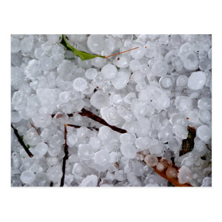 Marble Hail and Debris Postcard