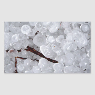 Marble Hail and Debris Rectangular Sticker