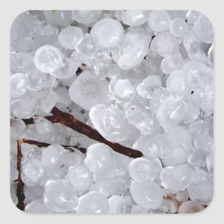 Marble Hail and Debris Square Sticker