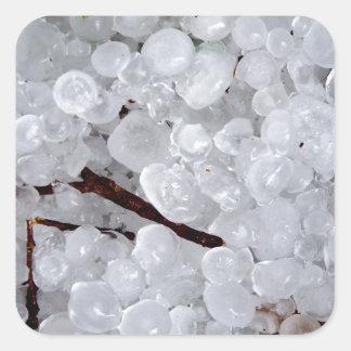Marble Hail and Debris Square Sticker