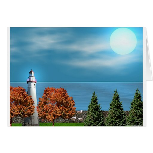Marble Head Lighthouse Greeting Cards