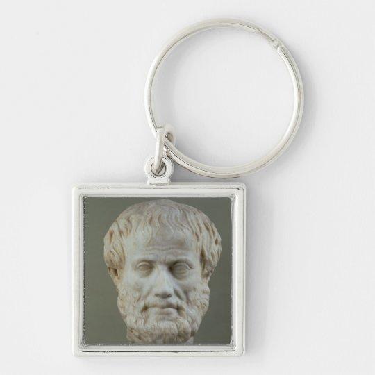 Marble head of Aristotle Keychain