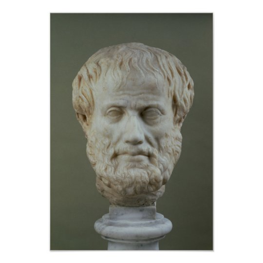 Marble head of Aristotle Poster