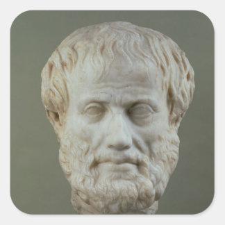 Marble head of Aristotle Square Sticker