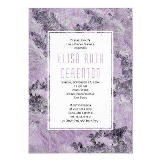 Marble in amethyst purple wedding bridal shower card